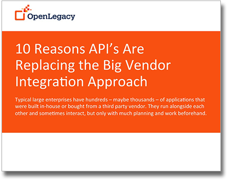 API integration and API management - 10 Reasons API's Are Replacing the Big Vendor Integration Approach