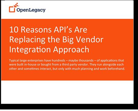 API integration and API management - 10 Reasons API's Are Replacing the Big Vendor Integration Approach